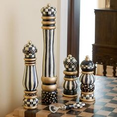 Courtly Check Pepper Mill - 10""