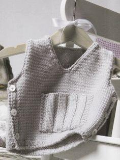 Gray Vest | Knitting Fever Yarns & Euro Yarns