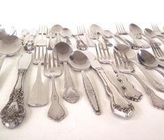 Cottage Chic Stainless Silverware Set or by LaurasLastDitch, $19.99