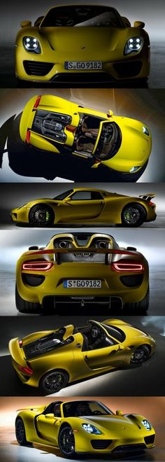 2015 Porsche 918 Spyder CarRevsDaily Yellow17-vert. Oh my, so awesome!!! This car is sick.... in a good way!!!
