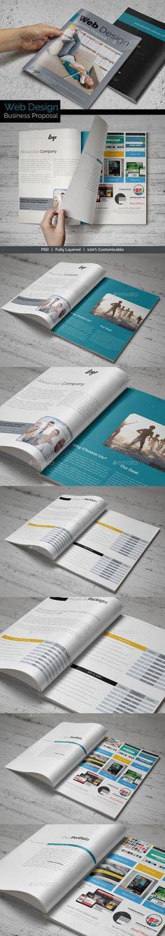 Web Design Business Proposal Template | Download: http://graphicriver.net/item/web-design-business-proposal/8893295?ref=ksioks