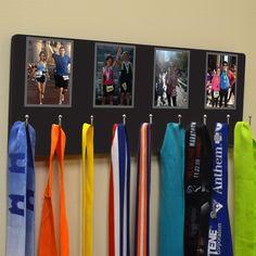 Hooked On Medals Hanger Custom Photos | Running Medal Hangers | Running Medal Displays | Medal Displays for Runners