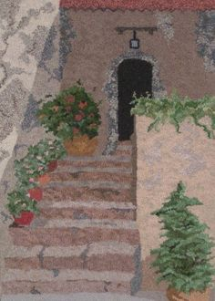 Stairway de Provence . . . hooked by John Flournoy