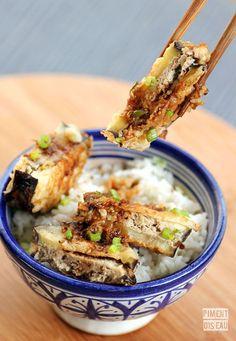#recette d'aubergines farcies à la chinoise