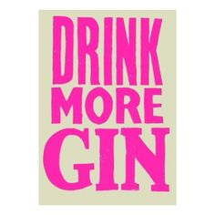 Available in Black or Pink, this is the original 'Drink More Gin' poster by Robert Rubbish, this print is a limited edition letterpress, printed in London by Hand and Eye Letterpress studio.  Robert Rubbish Greene studied Communication Art & Design at Royal College of Art in London from 2003 – 2005 and is one of the founding members of LE GUN magazine. Historic London is an especially inspirational place for his work which brings together his interests in curiosities, joke shops, facial…