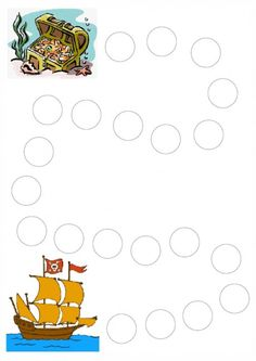 Pirate Ship dots page Pirate Activities, Educational Activities, Preschool Activities, Card Games For Kids, Diy For Kids, Pirate Theme, Pirate Party, Pirate Kids, Pirate Crafts