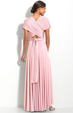 twobirds Convertible Jersey Gown | Nordstrom  in plum  worth the price, you can wear it a million ways!