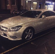 Mercedes Benz covered in 1 million swarovski crystals.