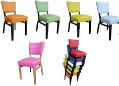 Stapelbare Stoel AMY showmodellen in diverse kleuren / stofferingen Nieuwe horeca stoel Amy De horeca stoel van nu! Aan te vullen met barkrukken en tafels naar keuze! Bel voor de beste prijzen en de mogelijkheden. ook verkrijgbaar in niet stapelbare variant Diverse kleuren op voorraad