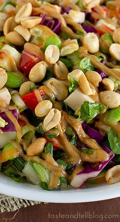 Thai Chopped Chicken Salad for THM use plan approved sweetener instead of sugar. (S)