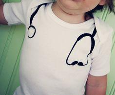 Funny onesie Baby Doctor Screen printed by katyandzucchini on Etsy, $18.00