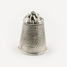 Lion thimble different view sterling silver