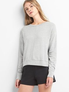 Gap Womens Crop Sweatshirt Light Heather Grey