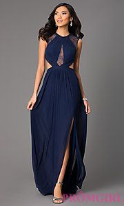 Buy High Neck Long Prom Dress by La Femme at PromGirl