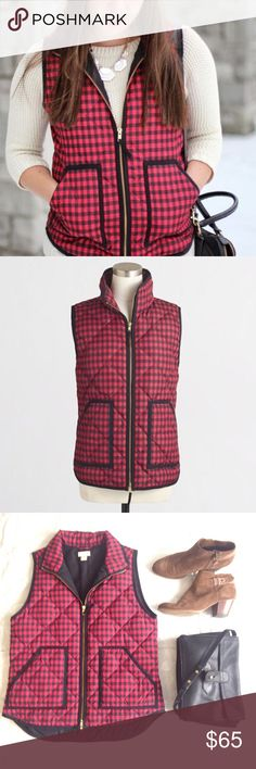 🆕 J. Crew Factory buffalo plaid excursion vest Buffalo plaid is the new black!! Add this adorable Excursion vest from J. Crew Factory to any outfit for a splash of chic style! In flawless condition! Size small but would easily fit a medium. J. Crew Jackets & Coats Vests