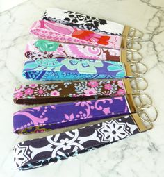KEY FOB WRISTLET  Handmade keychain in by HolditRightThereBags, $7.00