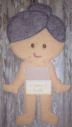 Felt Grandmother Doll by NettiesNeedlesToo on Etsy, $7.00