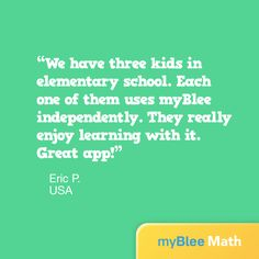 Kids enjoy learning! Thanks for your words, Eric!