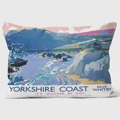 Yorkshire Coast LNER 1937 - Near Whitby - National Railway Museum Cushion