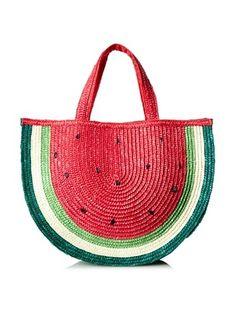 58% OFF Felix Rey Women's Watermelon Basket Tote Bag, Red, One Size