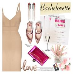 """""""Dress Rachel for the Bachelorette!"""" by slavicabojanovic ❤ liked on Polyvore featuring Roland Mouret, Mimi Wade, Riedel, Charlotte Olympia, Gucci and Bachelorette"""