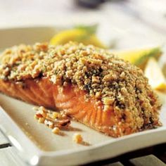 Another Great Dinner Idea - Crunchy Walnut Crusted Salmon Filets!
