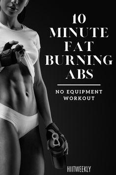 Quick Ab Workout, 10 Minute Ab Workout, Ab Workout At Home, Abs Workout For Women, No Equipment Ab Workout, Best Abs, Toned Abs, Bikini Bodies, Fat Burning
