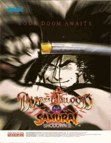 Samurai Shodown III / Samurai Spirits: Zankurou Musouken (Set 2) flyer Neo Geo, News Games, Arcade, Samurai, Blood, Poster, Posters, Movie Posters, Samurai Warrior