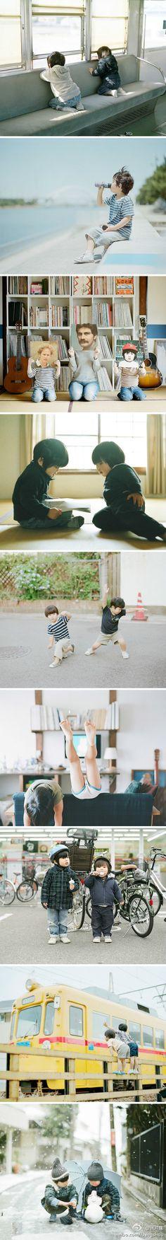 日系家庭摄影集。Hura and Mina。日本摄影师滨田英明。