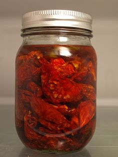 """Sun"" dried tomatoes, with instructions to make them either in the sun or with a dehydrator."
