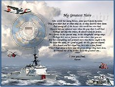Your Hero for Christmas. This Coast Guard Keepsake is for any occasion. Includes: Poem with our Beveled 11x14 Mat Frame. Perfect For Displaying year round. -- See this great image  : Handmade Gifts