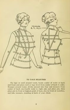 Efficiency, simplicity, economy in cutting and making ladies' garments Muscular Development, Sailor Collar, Theatre Costumes, Love Sewing, Fitted Bodice, Perfect Body, Vintage Sewing, Sewing Projects, Old Things