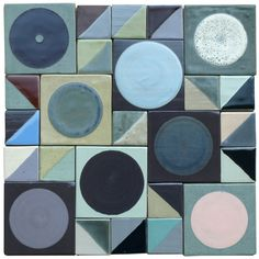 Tiles by Lubna Chowdhary: grey-origami-and-cipher