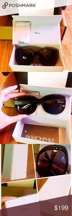 Christian Dior Sunglasses The case has some signs of usage while the Sunglasses look perfectly fine. Christian Dior Accessories Sunglasses