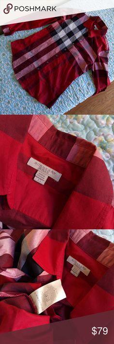 AUTHENTIC Burberry brit shirt Like new condition... Please note a tiny pin hole in pic 6 Burberry Tops