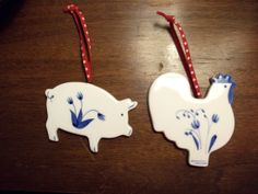 Hallmark Cards 1986 Hand Painted Ceramic Hen Pig by LakesideHaven, $12.00