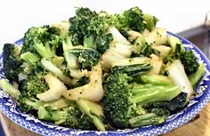 BOK CHOY WITH BROCCOLI - Linda's Low Carb Menus & Recipes  I like this site because it has all the food counts with the recipes
