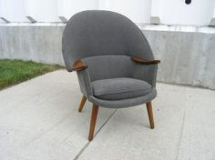 Machine Age   1950′s Danish Armchair attributed to Nanna Ditzel