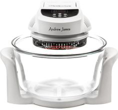 Andrew James 12 LTR White Premium Digital Halogen Oven Cooker + Easily Replaceable Spare Bulb + 2 YEAR WARRANTY + 128 Page Recipe Book - Complete With Extender Ring (Up to 17 Litres) Lid Holder, Baking Tray, Steamer Tray, Skewers, Low and High Racks Andrew James http://www.amazon.co.uk/dp/B008KYS4U6/ref=cm_sw_r_pi_dp_3GZRtb1RTNZWYMJP Lots of accessores £39.99 with 2 yeear warranty from Amazon.co.uk