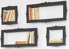 Frame a nook to show of your first editions... I would LOVE this if only I could own some first editions...