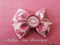 Chicago Bears Football Breast Cancer Pink by AshleyAnnBowtique