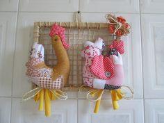 Quadro com galinhas