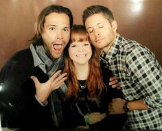 ferrisbuellersoffday: When you ask Jared Padalecki and Jensen Ackles to pretend to be in love with you, this happens. #TorCon2014