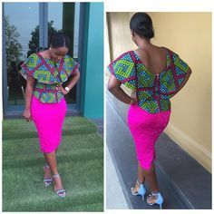 Ankara Tops Designs : Simple and Classical Ankara Collection African Inspired Fashion, African Dresses For Women, African Print Dresses, African Print Fashion, Africa Fashion, African Attire, African Wear, African Fashion Dresses, African Women