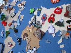 Felt map. Ooh this would be great for teaching about missions.
