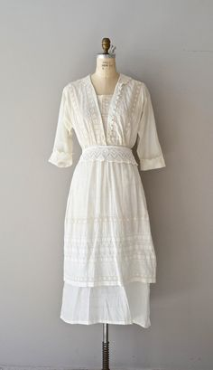 Afternoon Tea dress vintage cotton edwardian dress by DearGolden