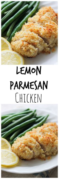 Lemon Parmesan Chicken will be one easy chicken recipe you'll be adding to the regular dinner rotation. It's delicious with fresh squeezed lemon over the top before serving.