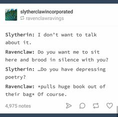 MY BEST FRIEND is a ravenclaw and im a slytherin and this is so true it's like ? MY BEST FRIEND is a ravenclaw and im a slytherin and this is so true it's like ? Harry Potter Houses, Hogwarts Houses, Harry Potter Fandom, Harry Potter World, Harry Potter Hogwarts, Dramione, Fandoms, Slytherin And Hufflepuff, Ravenclaw Memes