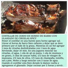 Costillar de Cerdo al Horno de Barro con Glaseado de Ciruelas Spicy