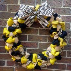 Vanderbilt Burlap Wreath by KsSouthernCharm on Etsy
